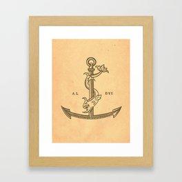 Aldus Manutius Printer Mark Framed Art Print
