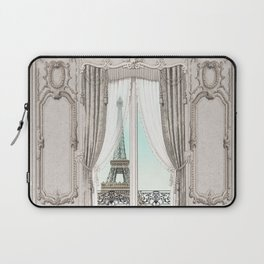 Eiffel Tower room with a view Laptop Sleeve