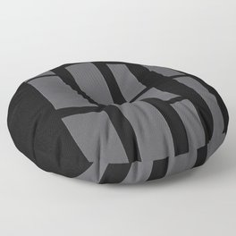 Black and Grey Paper Collage Floor Pillow