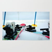 ski Area & Throw Rugs featuring Ski View by americansummers