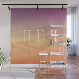"""""""Let it be"""" sunset Wall Mural"""