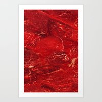 meat Art Prints featuring Meat. by Nathan
