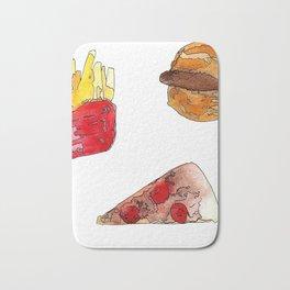 Food doodles Bath Mat