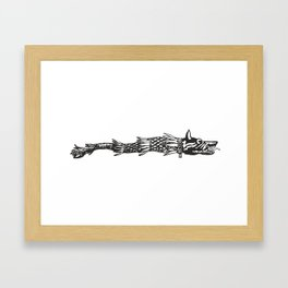 dacia wolf symbol Framed Art Print