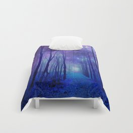 Fantasy Path Purple Blue Comforters