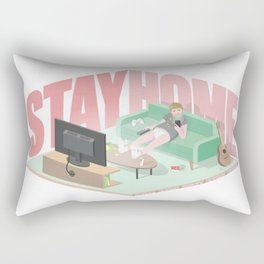 Stay Home Rectangular Pillow