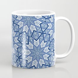 Nine Fold pattern blue Coffee Mug