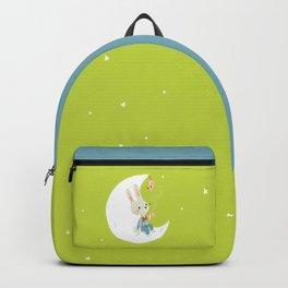 Little rabbit on the moon Backpack