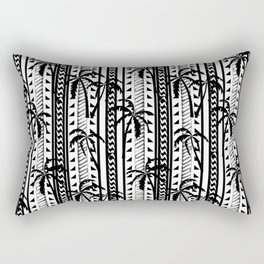 Black and white Mixed prints abstract, geometric, chain, tropical print pattern design original Rectangular Pillow