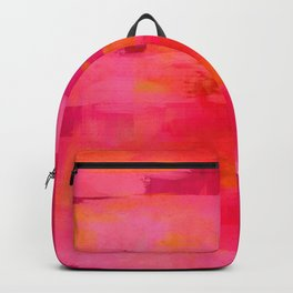 """""""Abstract brushstrokes in pastel pinks and oranges decorative pattern"""" Backpack"""