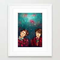 tegan and sara Framed Art Prints featuring Tegan & Sara by Miriam R. Kent