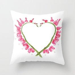 Dicentra love Throw Pillow