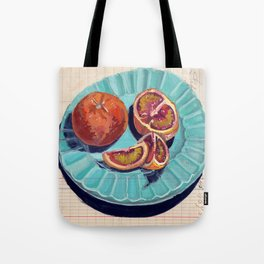 Blood Oranges in Gouache Tote Bag