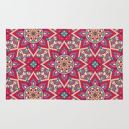 Kaleidoscopic Kente Rug