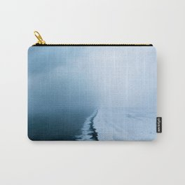 Infinite and minimal black sand beach in Iceland - Landscape Photography Carry-All Pouch