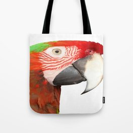 A Beautiful Bird Harlequin Macaw Portrait Background Removed Tote Bag