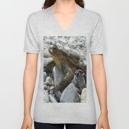 Bufo Bufo Toad Lounging On Stones Unisex V-Neck