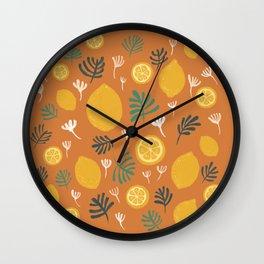 Frest Lemon on orange Summer On Wall Clock