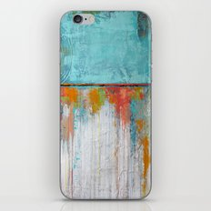 Coral Reef - Textured Abstract Art - Acrylic on Canvas Painting iPhone & iPod Skin