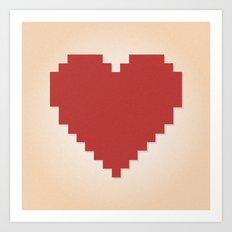 8bit Love Art Print