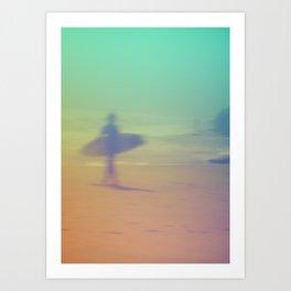 Surf Montauk Poster - Original Art Print