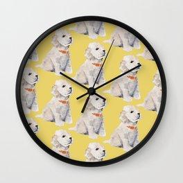 Cockapoo Pups Wall Clock