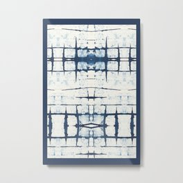 Faded Japanese Shibori Metal Print