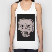 skeleton Tank Tops featuring Skeleton by Hadar Geva