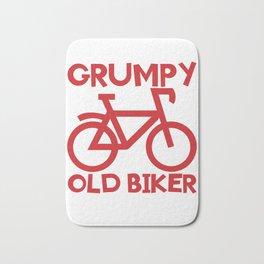 Senior Citizen T-Shirt Gift Grumpy old biker Bath Mat
