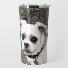 Molly black and white Travel Mug