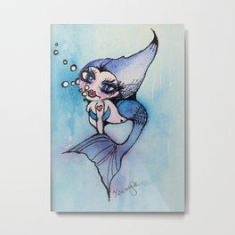 Mindy the Mermaid Metal Print