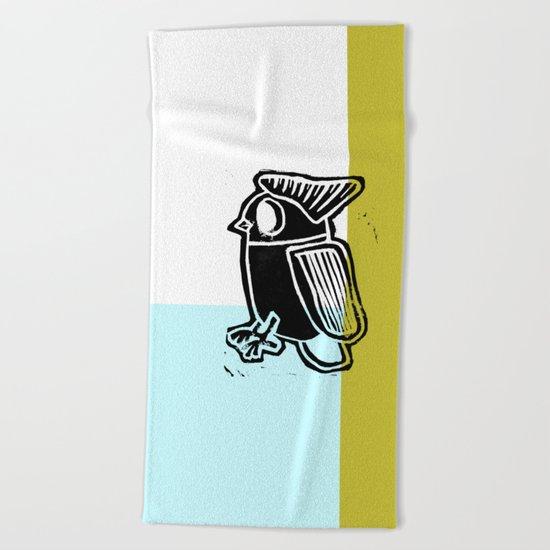 regular bird Beach Towel