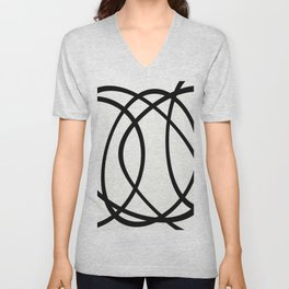 Community - Black and white abstract Unisex V-Neck
