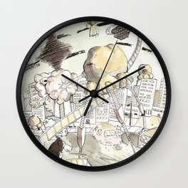 Toronto Popcorn invasion Wall Clock