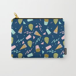 Alien outer space cute aliens french fries rad sodas pattern print Carry-All Pouch