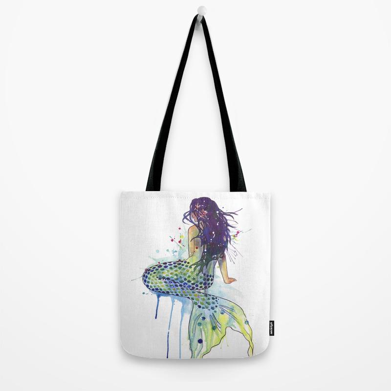 fe72b8082a13 Mermaid Tote Bag