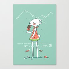 Summer Bear Canvas Print