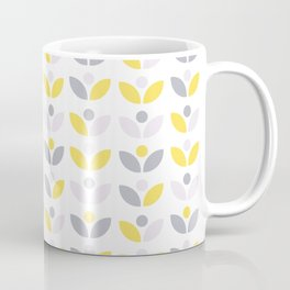 Yellow and Grey Abstract Flower Pattern #society6 #decor #buyart #artprint Coffee Mug