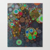 circles Canvas Prints featuring Circles by Olivia Joy StClaire