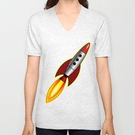 Retro Rocket Unisex V-Neck