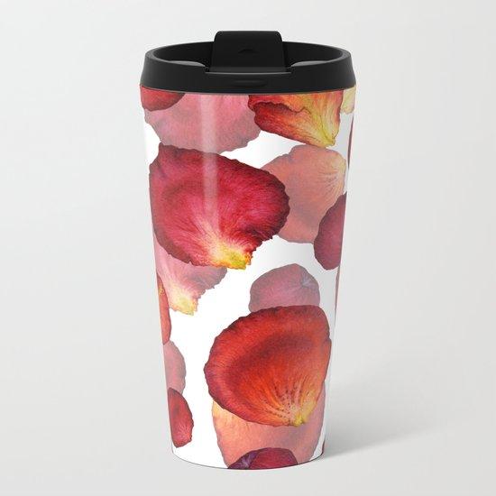 Rose Petal Pattern 04 Metal Travel Mug