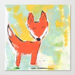 Bright and Happy Fox Canvas Print