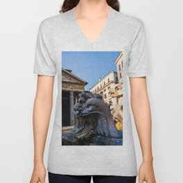 Fontana del Pantheon Unisex V-Neck