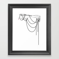 Black Pearl Dream Framed Art Print