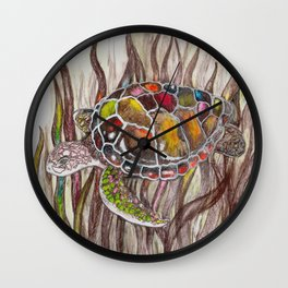 Tripping turtle Wall Clock