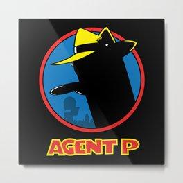 Agent P Metal Print