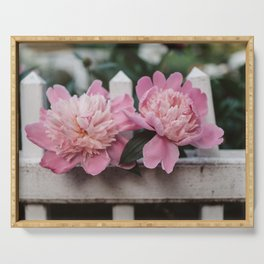 Peony in the Garden Serving Tray