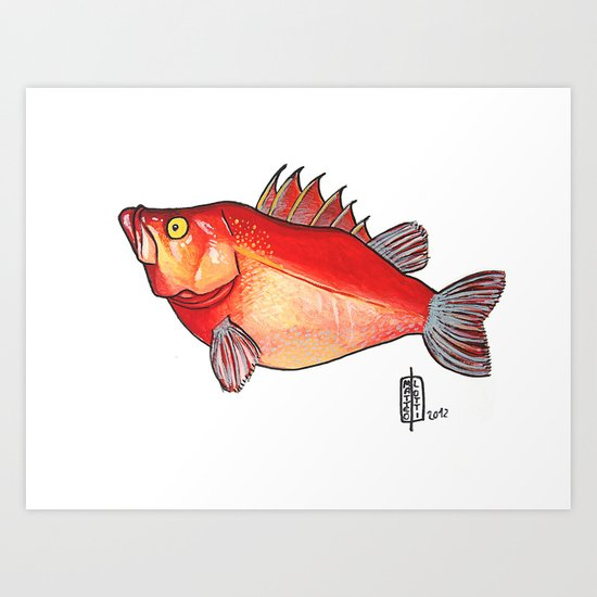 Pesce intrepido Art Print