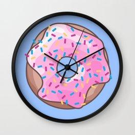 Pink Strawberry Donut Wall Clock