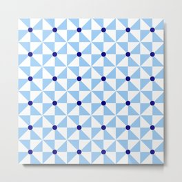 Optical pattern 122 blue Metal Print